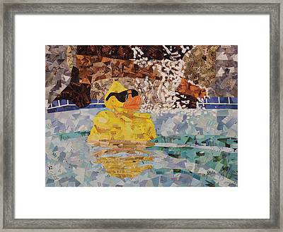 Rubber Ducky You're The One Framed Print by Paula Dickerhoff