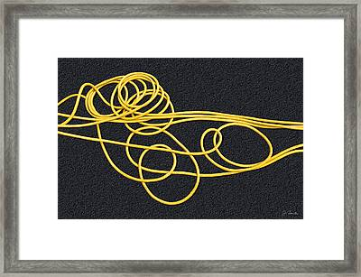 Rubber Spaghetti Framed Print by Joe Bonita