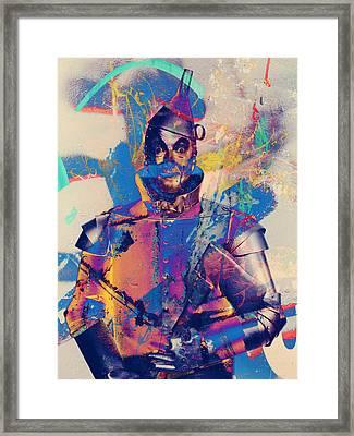 Rubber Tin Man  Framed Print by Jerry Cordeiro