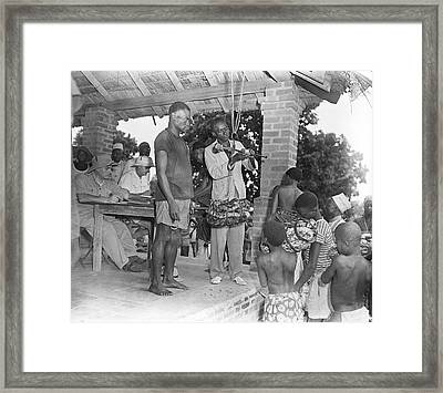 Rubber Trade In Africa Framed Print by Library Of Congress