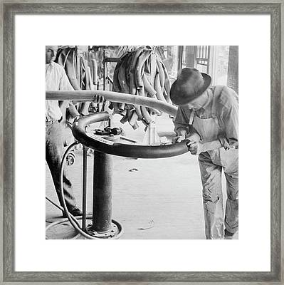 Rubber Tyre Industry Framed Print by Library Of Congress