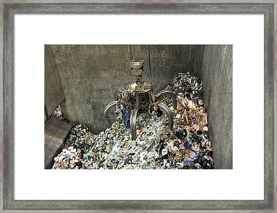Rubbish At Refuse Facility Framed Print by Public Health England