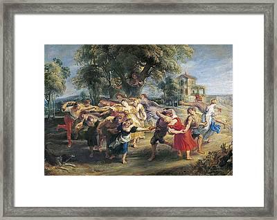 Rubens, Peter Paul 1577-1640. A Peasant Framed Print by Everett