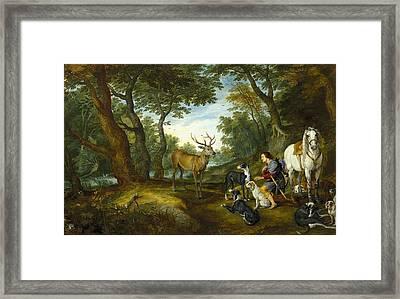 Rubens, Peter Paul 1577-1640 Breugel Framed Print by Everett