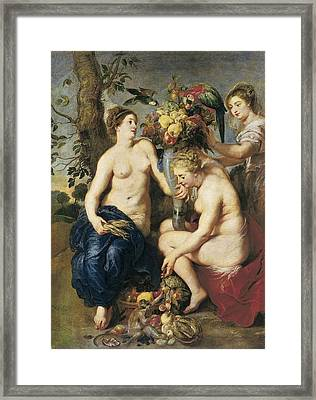 Rubens, Peter Paul 1577-1640. Ceres Framed Print by Everett