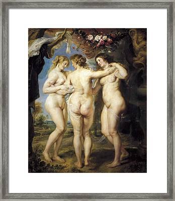 Rubens, Peter Paul 1577-1640. The Three Framed Print by Everett