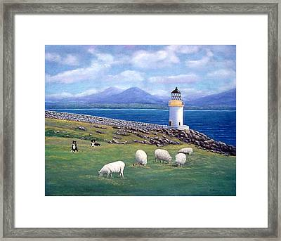 Rubh An Duin Lighthouse Scotland Framed Print