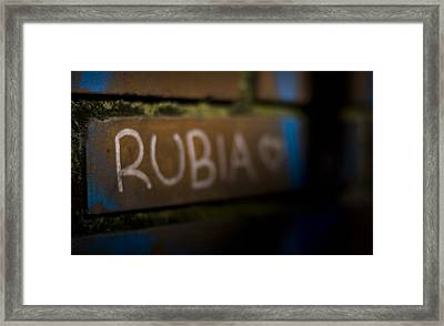 Rubia Framed Print by Pablo Lopez