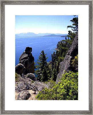 Rubican Trail View Of  Lake Tahoe Framed Print by Frank Wilson