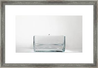 Rubidium Reacting With Water (1 Of 6) Framed Print by Science Photo Library