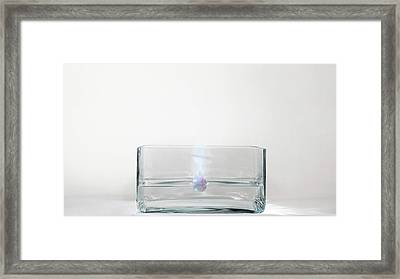 Rubidium Reacting With Water (2 Of 6) Framed Print by Science Photo Library