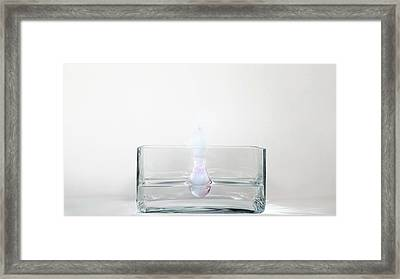 Rubidium Reacting With Water (3 Of 6) Framed Print by Science Photo Library