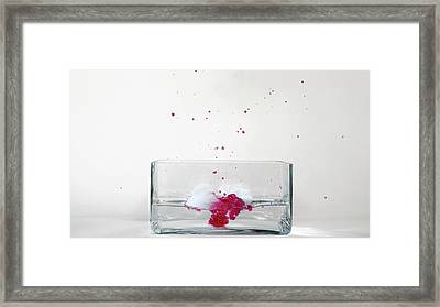 Rubidium Reacting With Water (5 Of 6) Framed Print by Science Photo Library