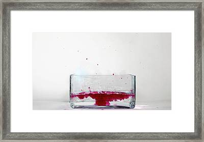 Rubidium Reacting With Water (6 Of 6) Framed Print by Science Photo Library