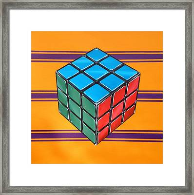 Rubiks Framed Print