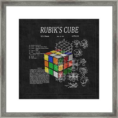 Rubik's Cube Patent 3 Framed Print