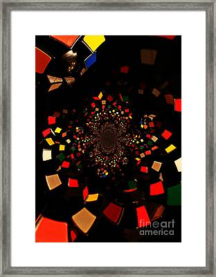Rubik's Explosion Framed Print by Scott Allison