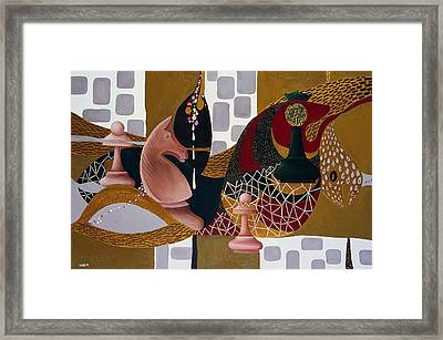 Rubinstein-lasker Framed Print by Nicolas Sphicas