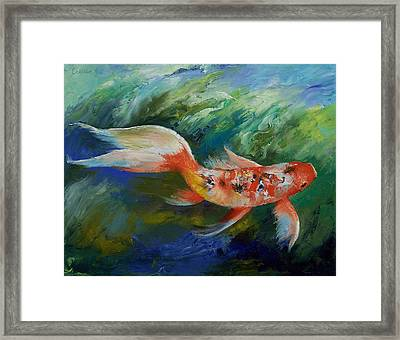 Ruby And Sapphire Framed Print by Michael Creese
