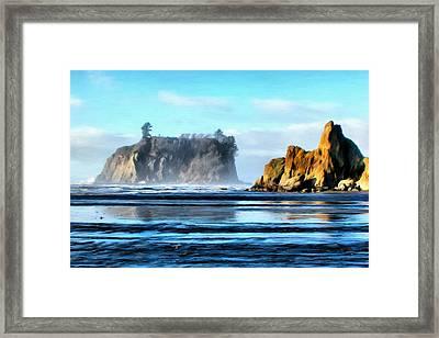 Ruby Beach Ocean View Framed Print by Paddrick Mackin