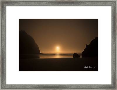 Ruby Beach Sunset Framed Print by Charlie Duncan