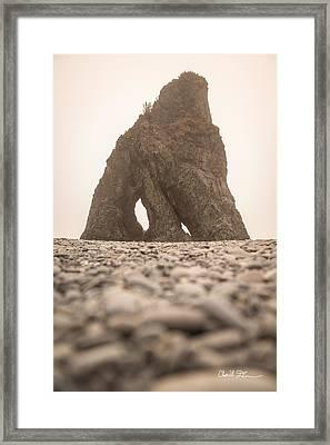 Ruby Beach Triangle Framed Print