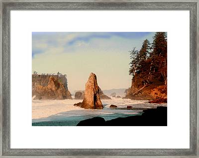 Ruby Beach Washington Coast Framed Print by Jack Pumphrey