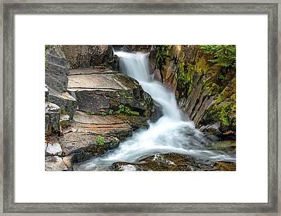 Ruby Falls Mount Rainier National Park Framed Print by Bob Noble Photography