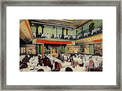 Ruby Foo Den Chinese Restaurant In New York City Framed Print by Dwight Goss