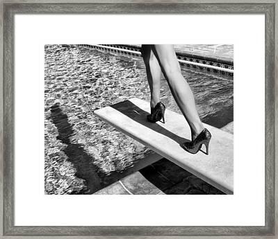 Ruby Heels Bw Palm Springs Framed Print