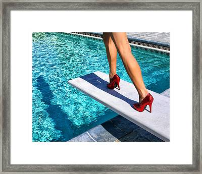 Ruby Heels Ready For Take-off Palm Springs Framed Print by William Dey