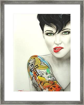 Ruby Rose - ' Ruby II ' Framed Print
