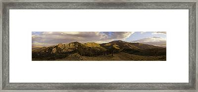 Ruby Mountain Panorama Framed Print by Jim Snyder