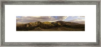 Ruby Mountain Panorama Framed Print