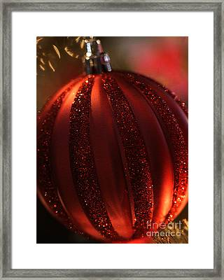Framed Print featuring the photograph Ruby Red Christmas by Linda Shafer