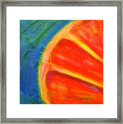 Ruby Red Framed Print by Debi Starr