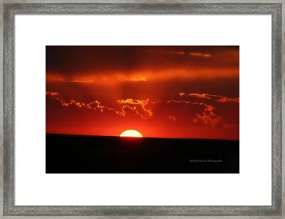 Ruby Red Framed Print