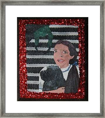 Ruby Red Framed Print by Yvonne  Kroupa