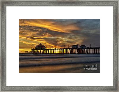 Ruby's At Surf City Framed Print by Peter Dang