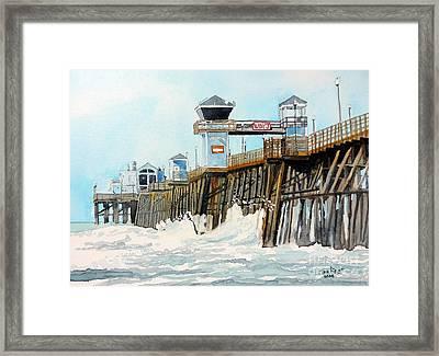 Ruby's Oceanside Pier Framed Print by Tom Riggs