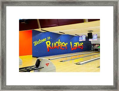 Rucker Lanes Framed Print