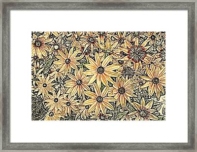 Framed Print featuring the photograph Rudbeckia - Rudbeckie by Nature and Wildlife Photography