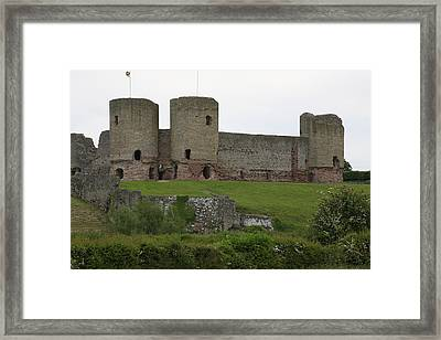 Framed Print featuring the photograph Ruddlan Castle 2 by Christopher Rowlands