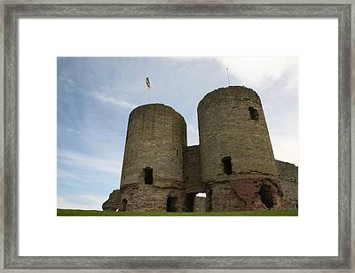 Framed Print featuring the photograph Ruddlan Castle by Christopher Rowlands
