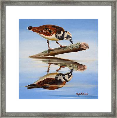 Ruddy Reflection Framed Print by Phyllis Beiser