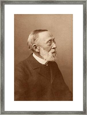 Rudolf Virchow Framed Print by American Philosophical Society