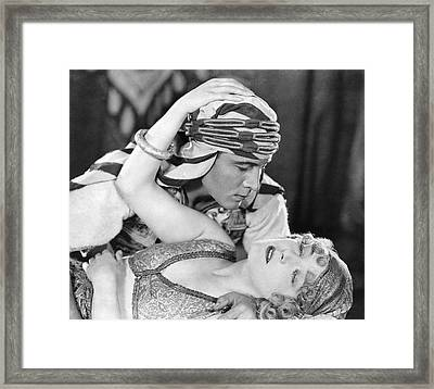 Rudolph Valentino Framed Print by Underwood Archives