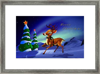 Rudolph Framed Print