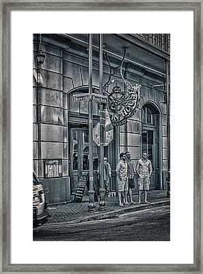 Rue Bourbon  Framed Print by Sennie Pierson