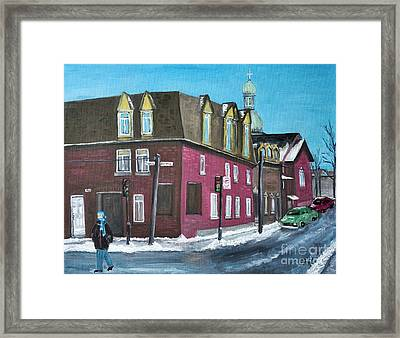 Rue Centre Pte St Charles Framed Print by Reb Frost